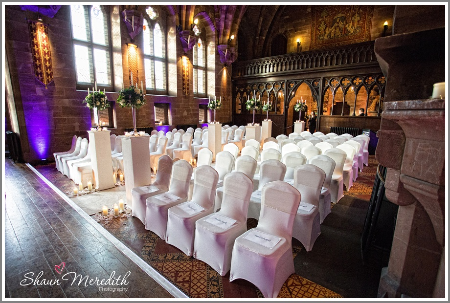 Room decorated and ready for guests at Peckforton Castle