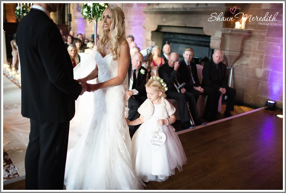 Saying their vows at Peckforton Castle