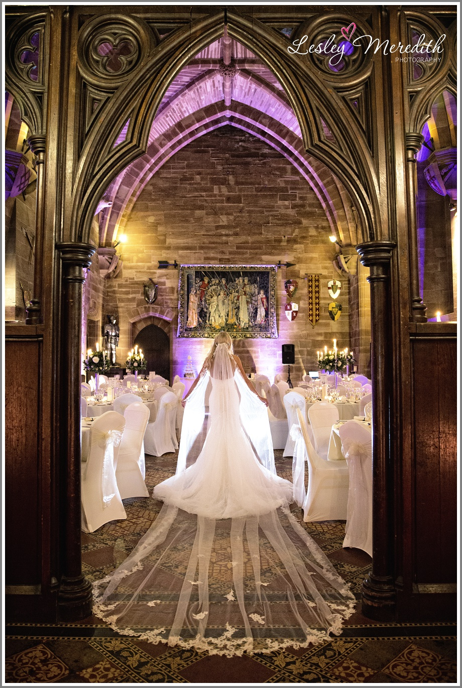 Julie at Peckforton Castle in Eternity Bridal dresses