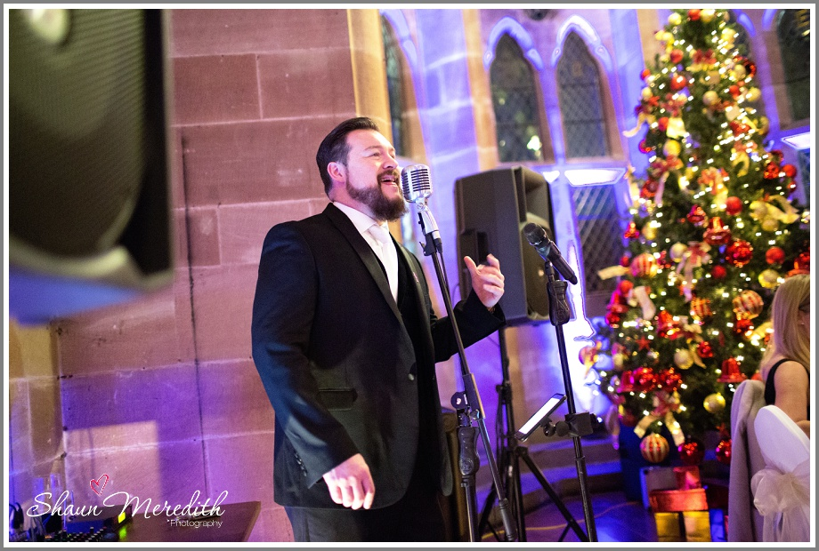 Wedding singer at Peckforton Castle