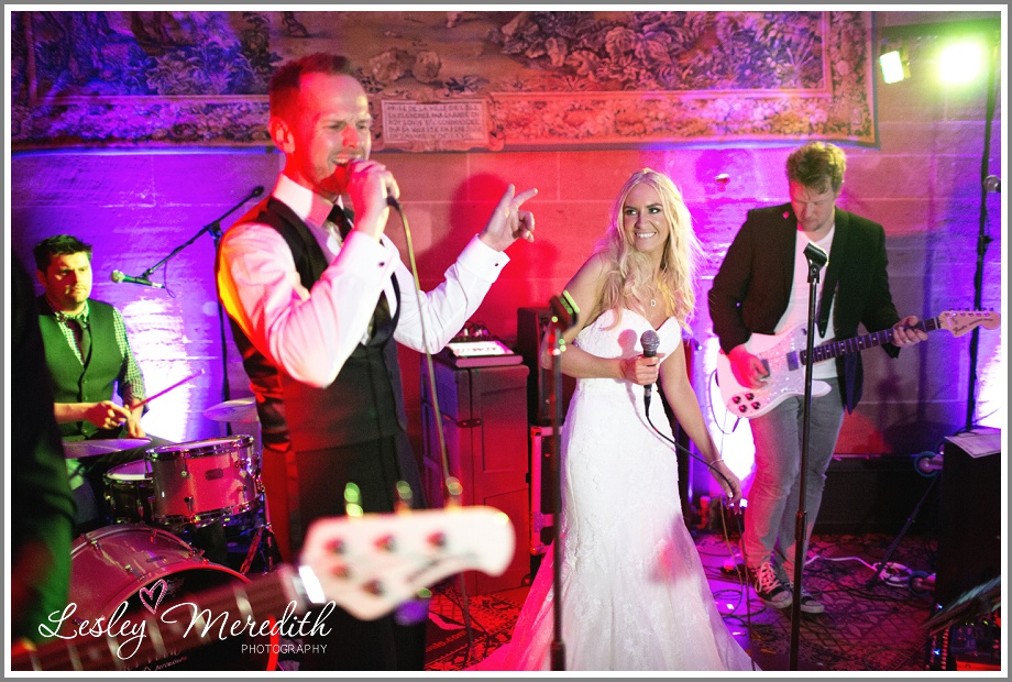 Julie joins the band at Peckforton Castle