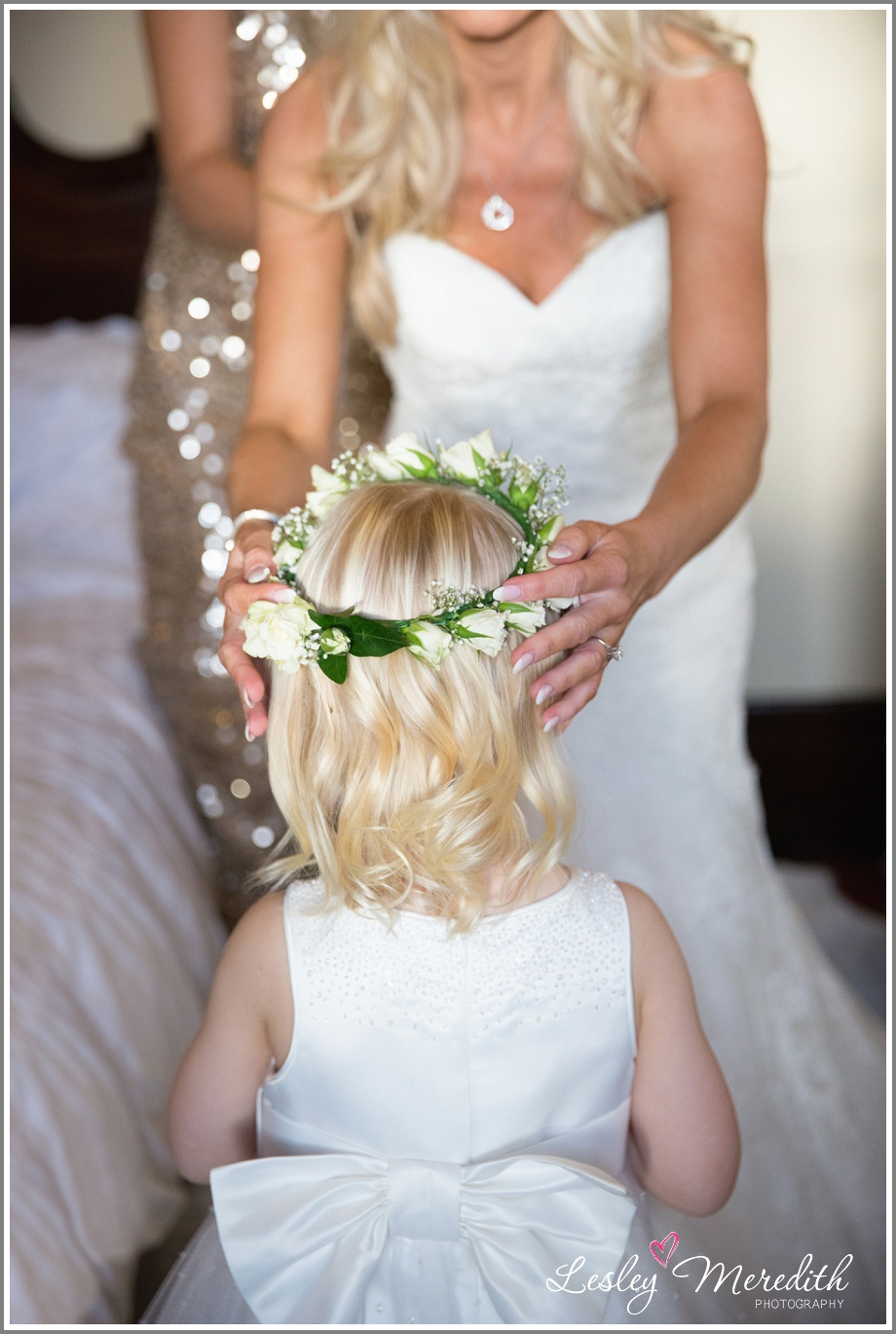 Julie and Jessica final touches at Peckforton Castle