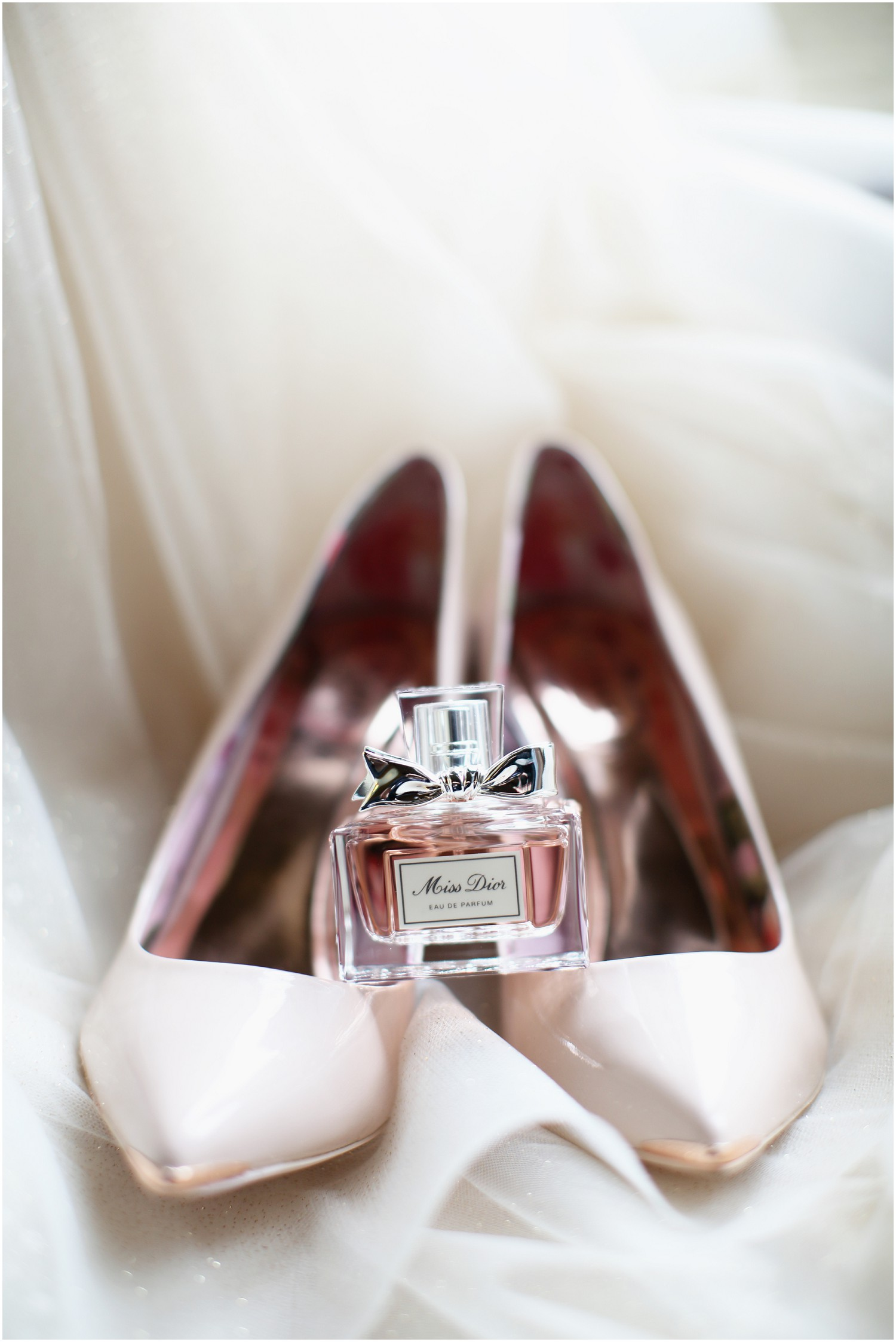 brides shoes and perfume