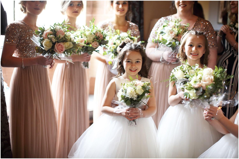 flower girls and bridesmaids