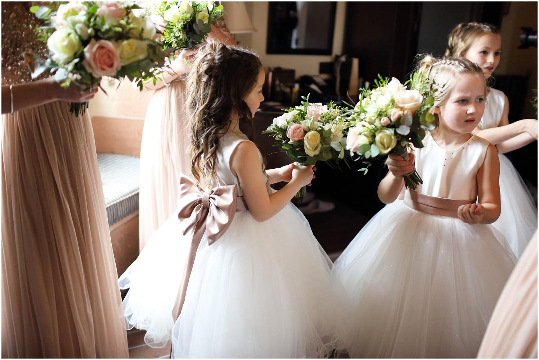 flower girl bow detail on dress
