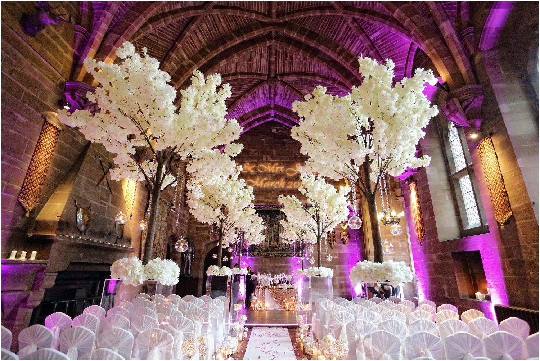 great hall flowers peckforton castle