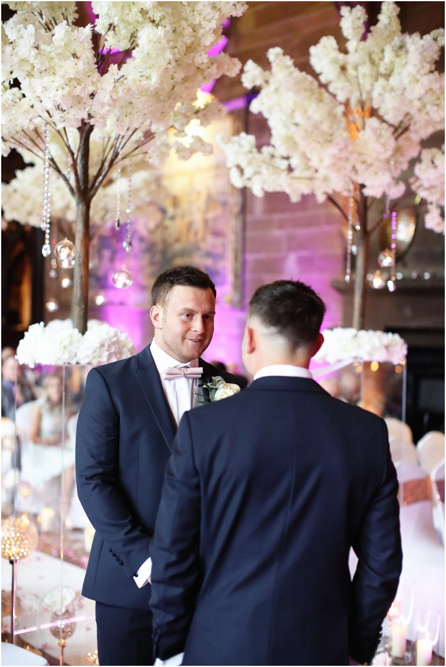 groom and batsman waiting for bride