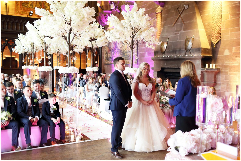 civil ceremony great hall peckforton castle