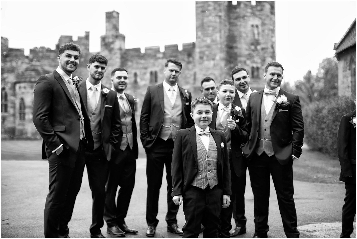 groom with male bridal party