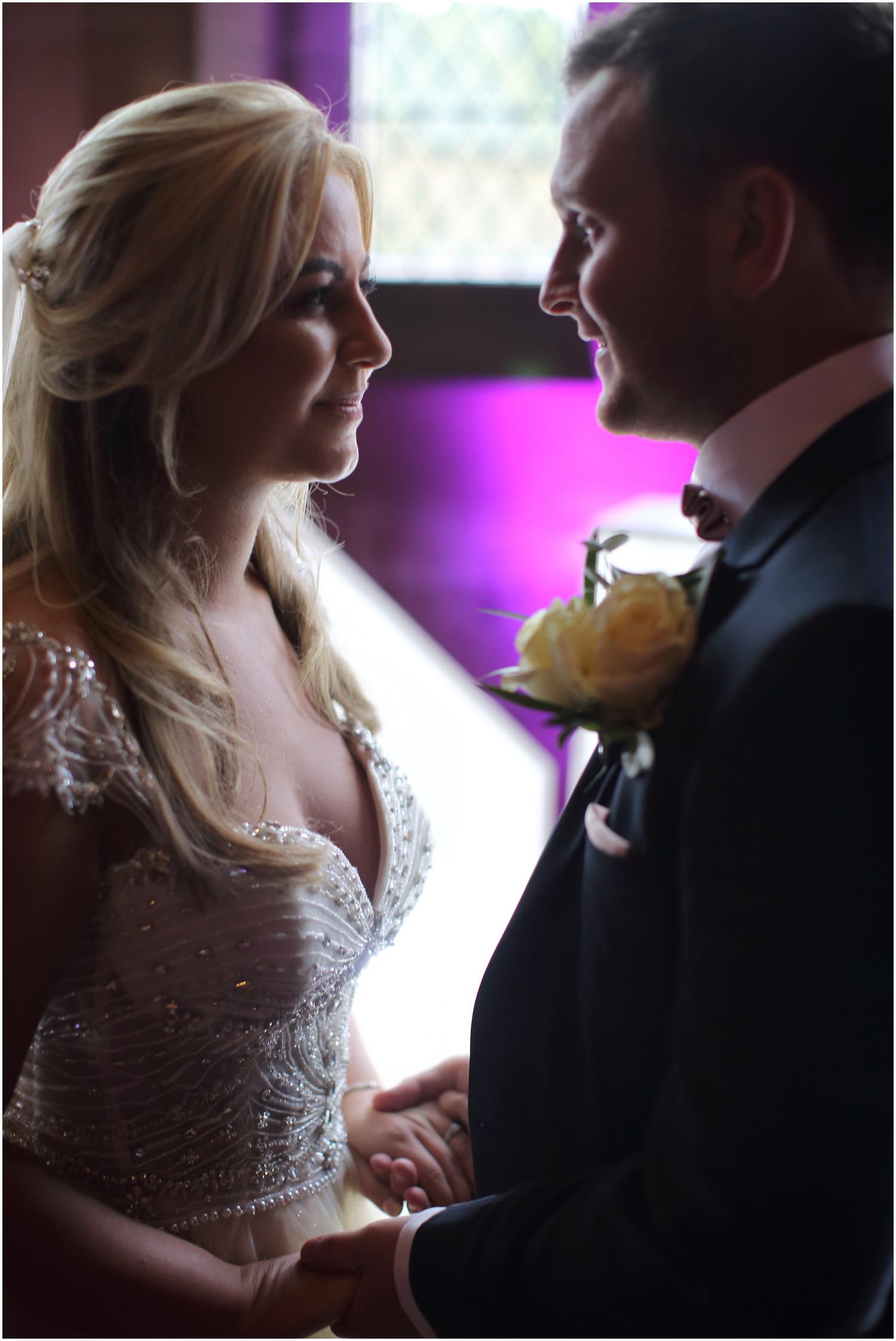 bride and groom close dress details