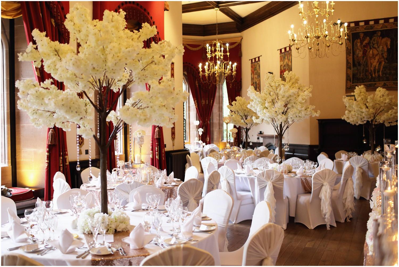 wedding breakfast flower table chairs