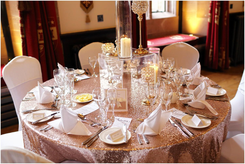 wedding breakfast sequin table covers