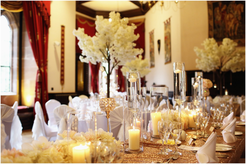 top table wedding breakfast blossom trees