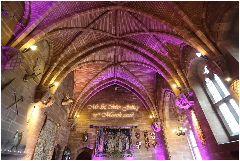great hall lighting peckforton castle