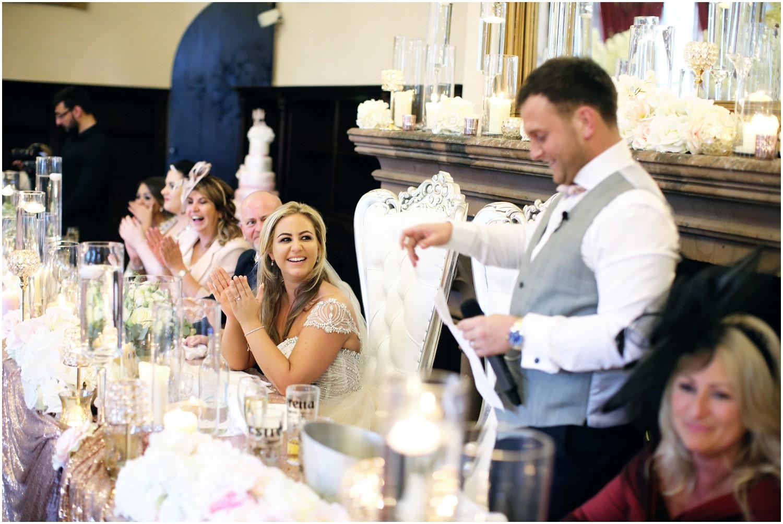 grooms speech list bride laughing