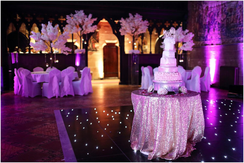 wedding cake star lit dance floor
