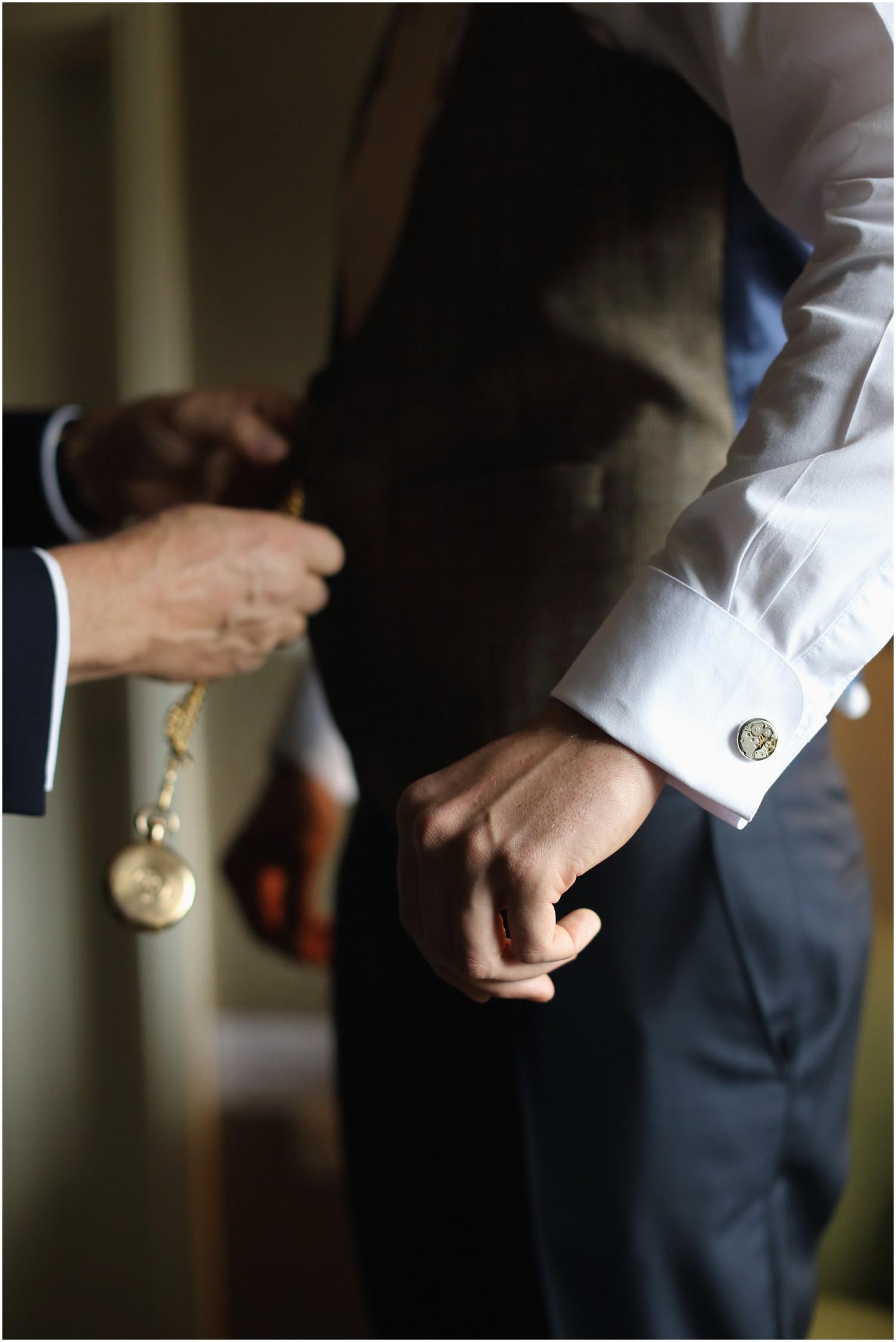 grooms watch cufflinks