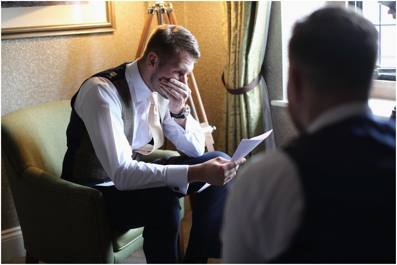emotional groom brides gift