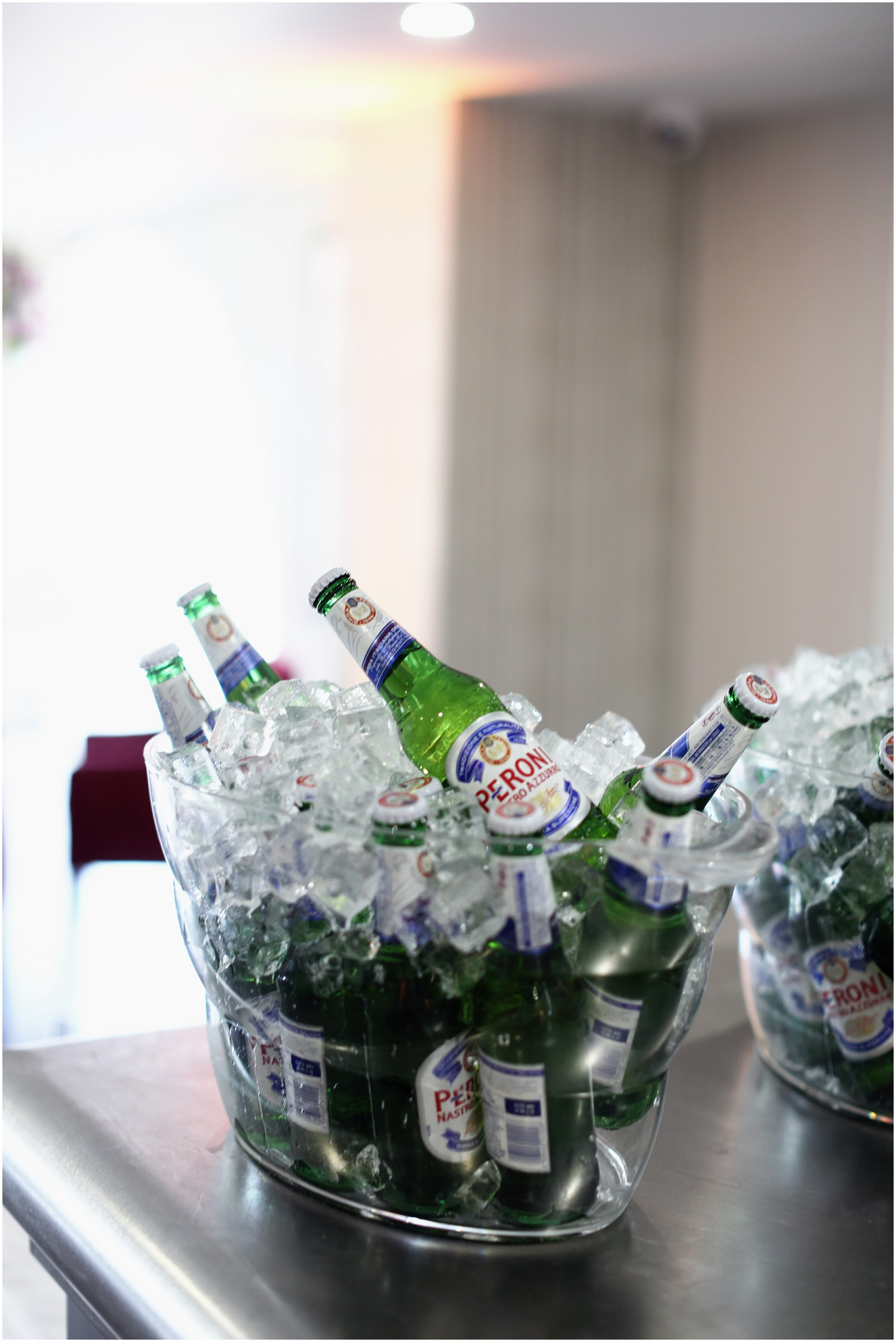 iced peroni beers