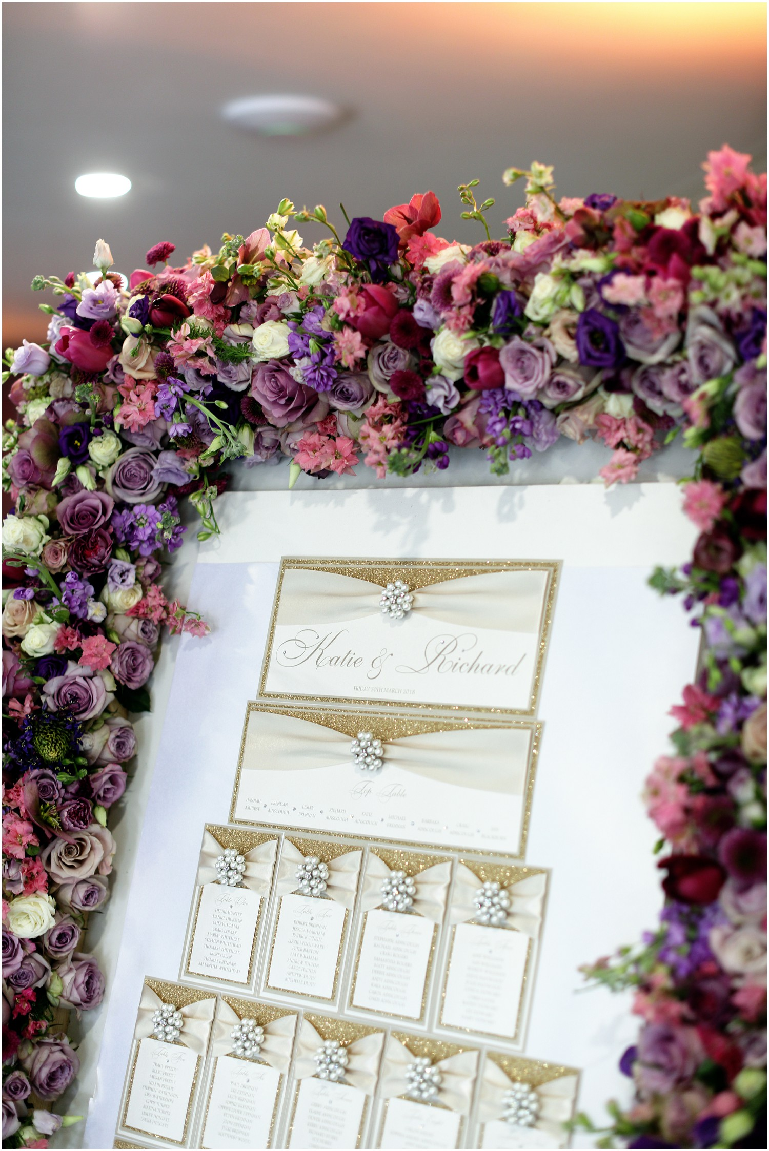 wedding breakfast table plan