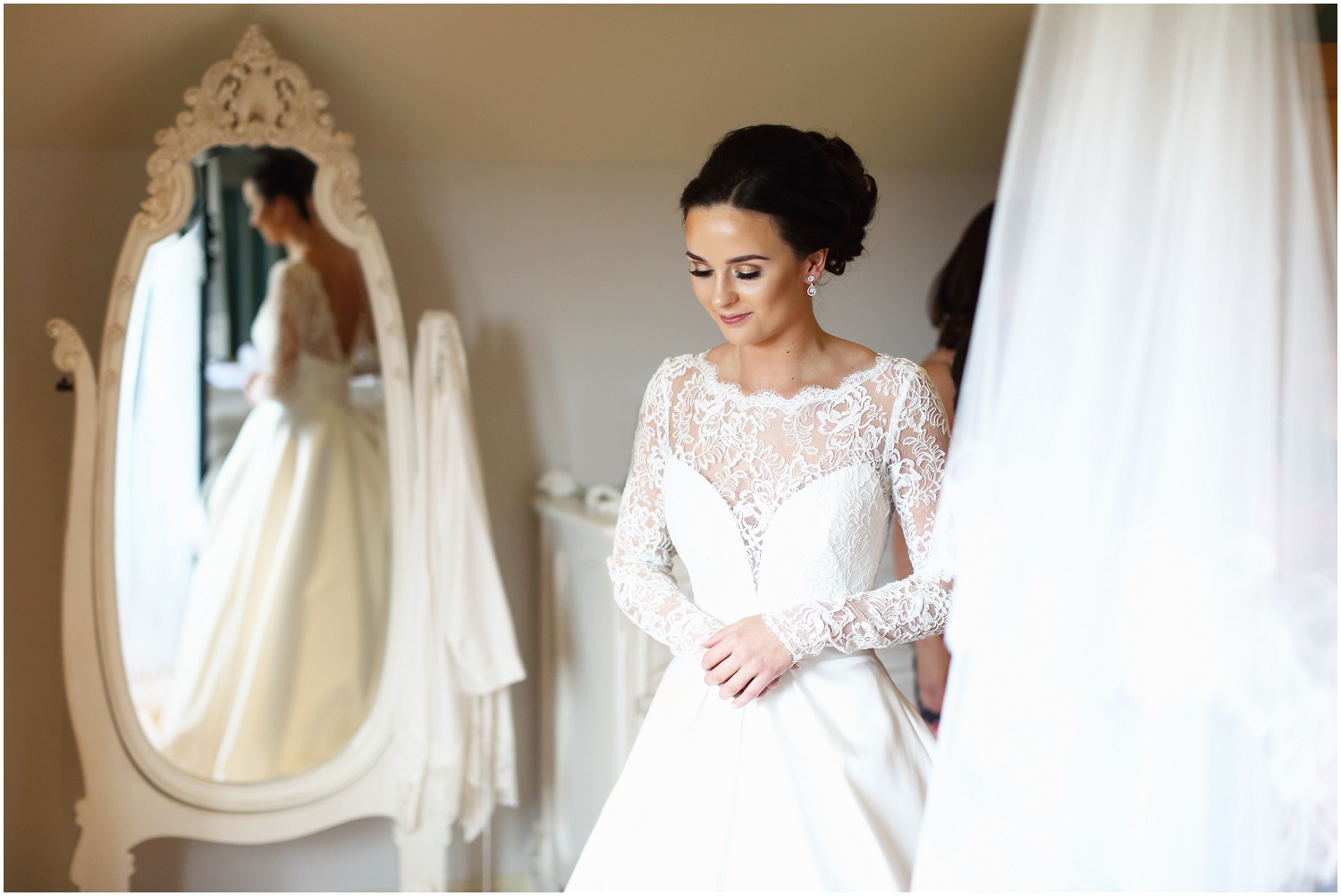 brides refection getting dressed Merrydale manor