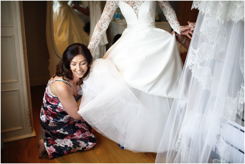 fixing wedding dress