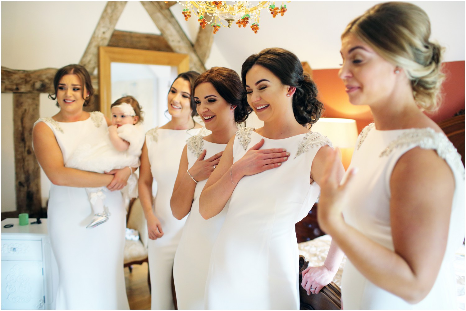 bridesmaids reactions to seeing bride