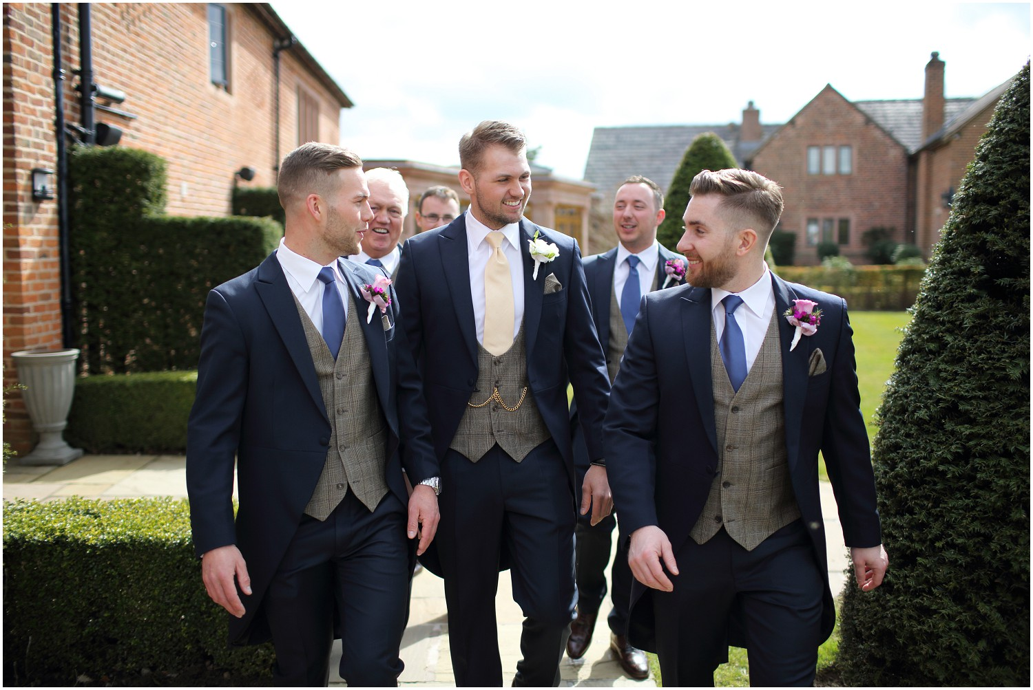 groom and groomsmen Merrydale manor