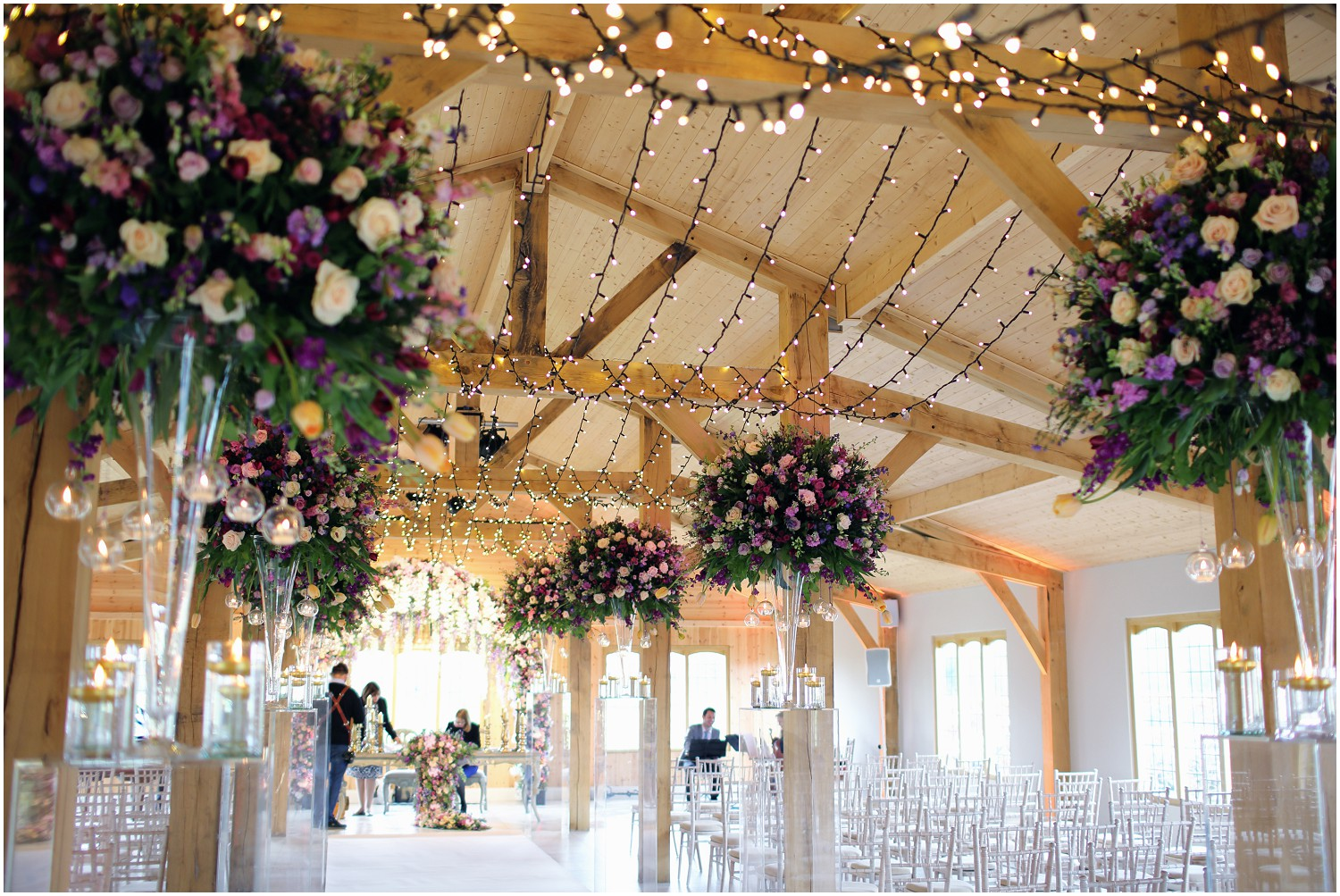 redfloral fairy lights chapel flowers Merrydale manor