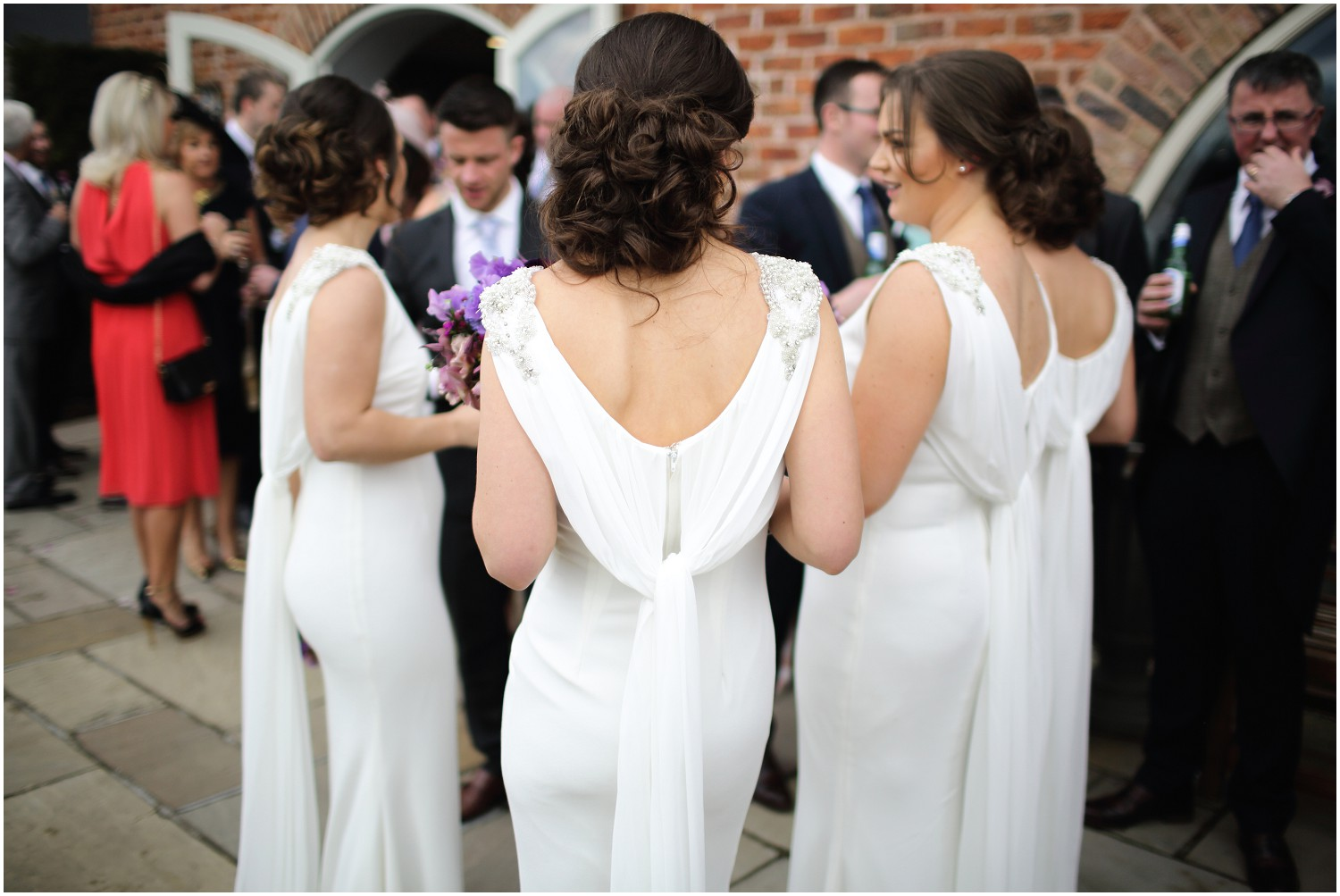 bridesmaids back view of dresses