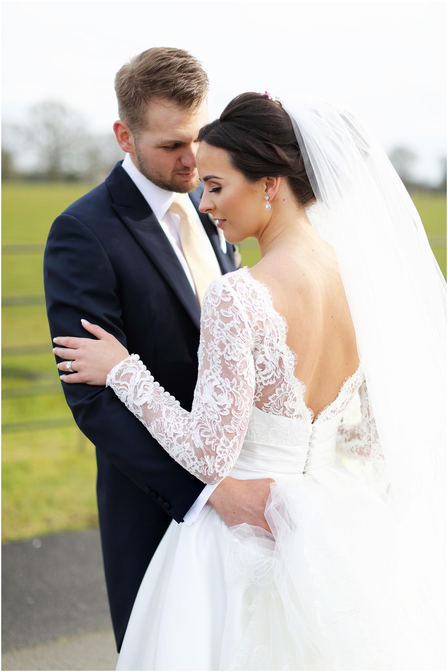 groom admiring bride