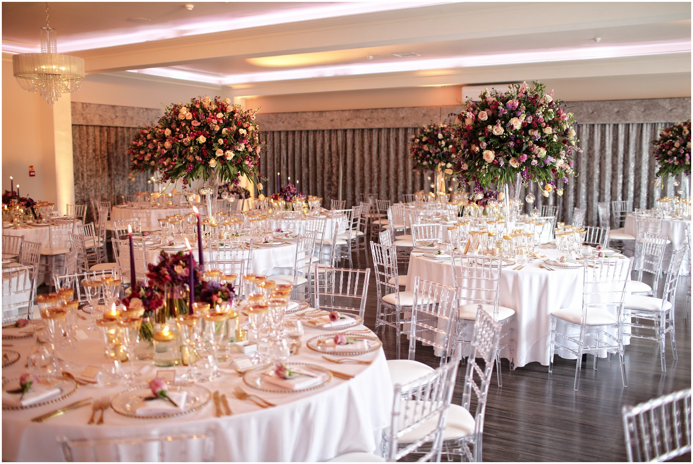 florals on wedding breakfast tables