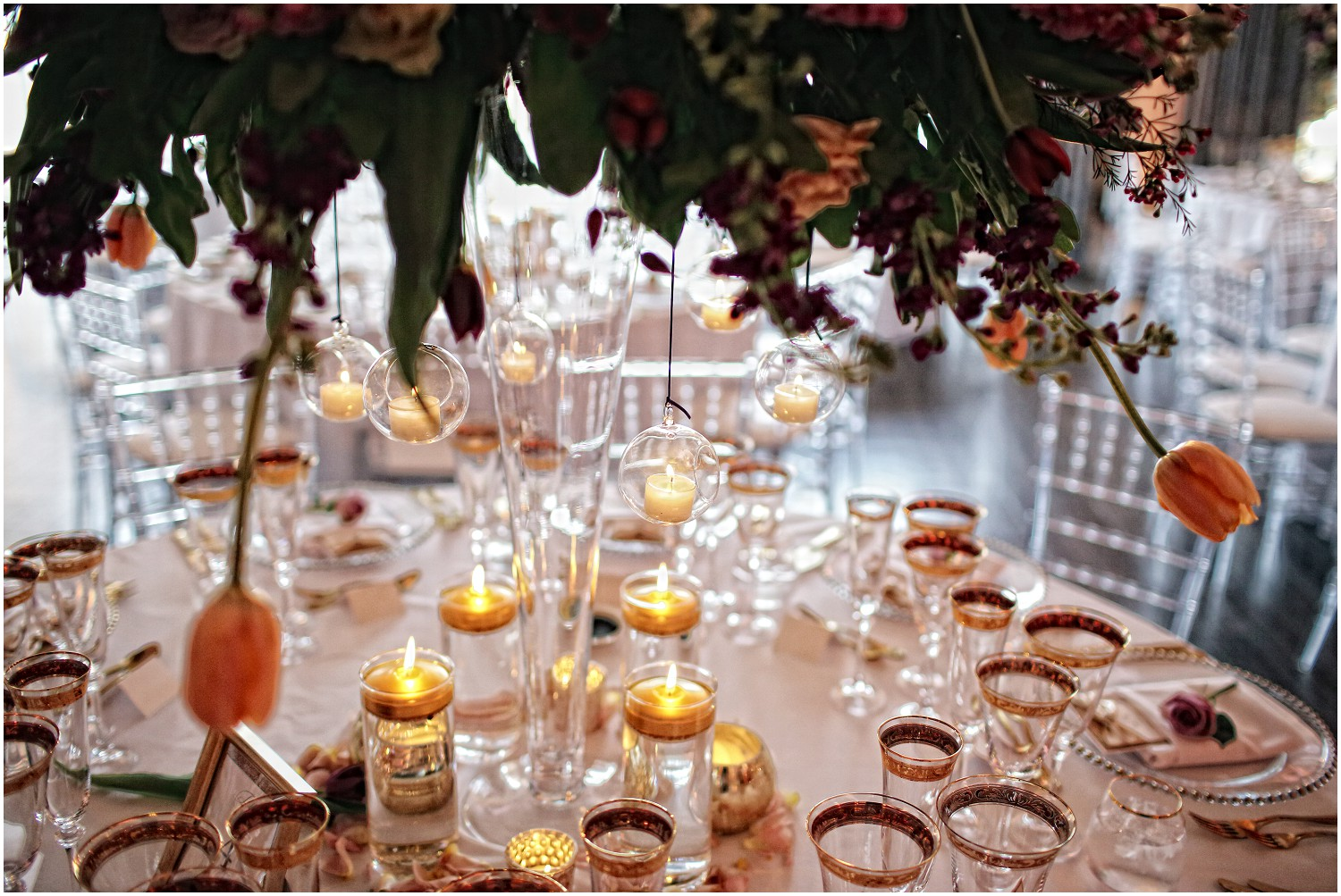 table setting wedding breakfast