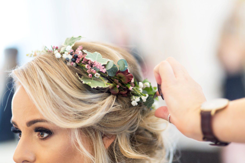 placing on flower crown