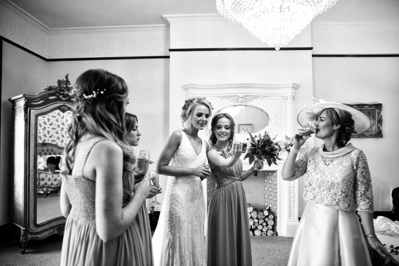 bridal group selfie