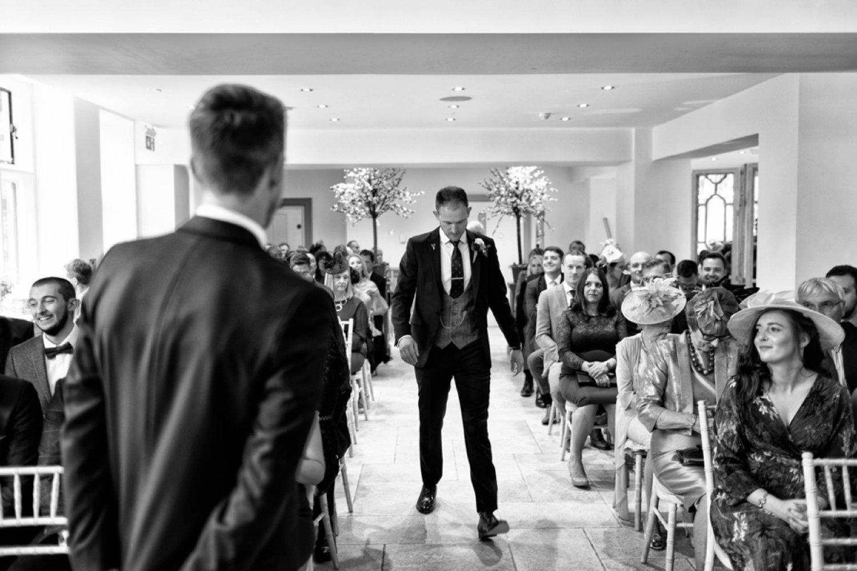 groom in ceremony