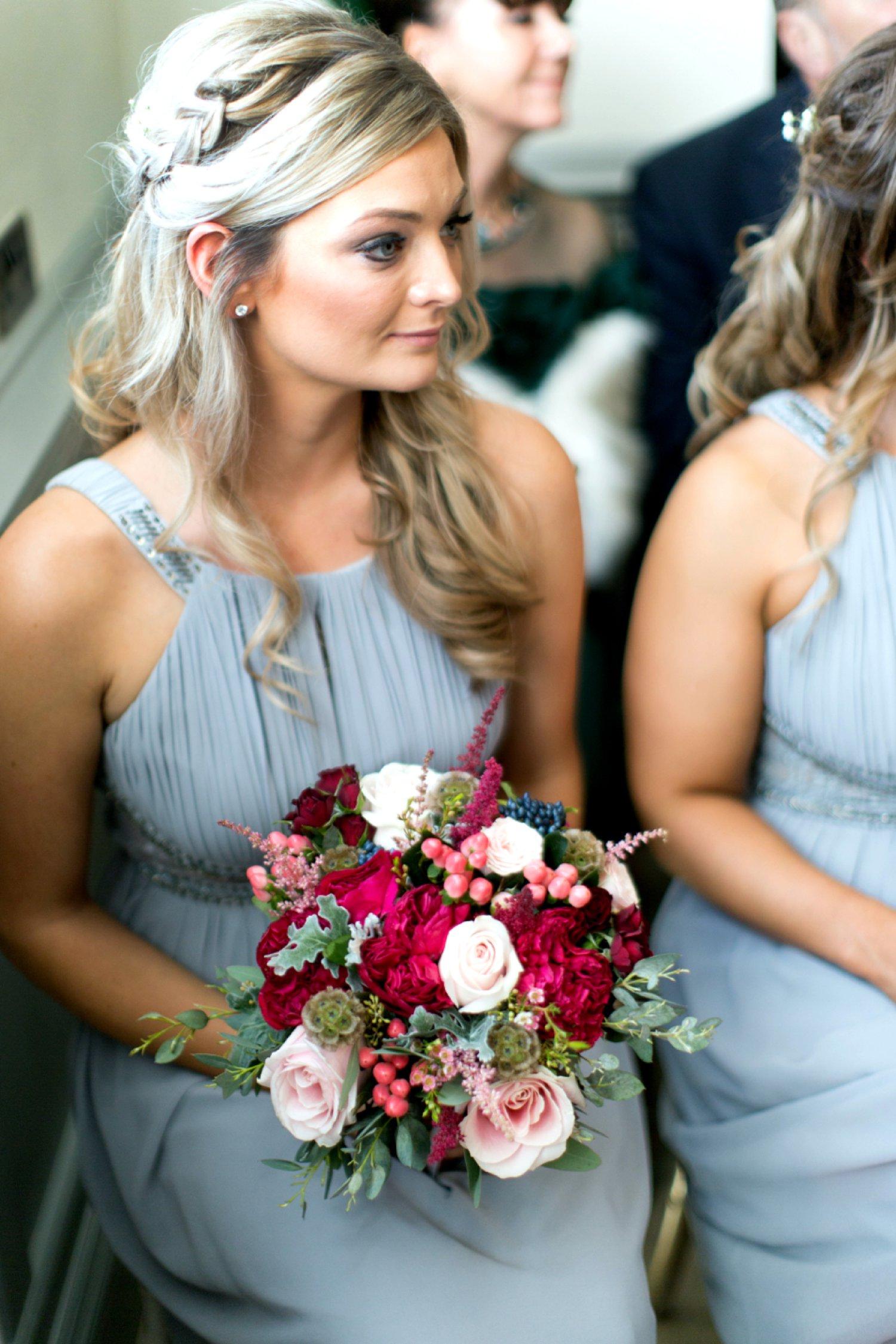 bridesmaid watching ceremony