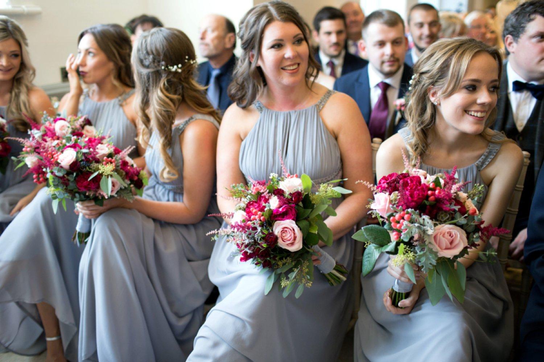 bridesmaids beautiful flowers