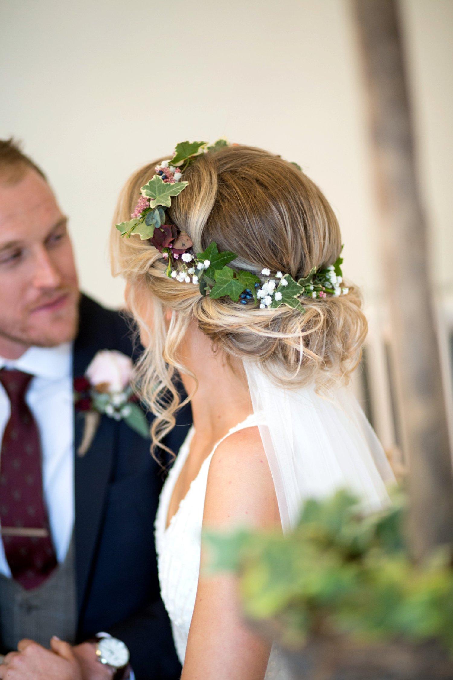 brides flower crown