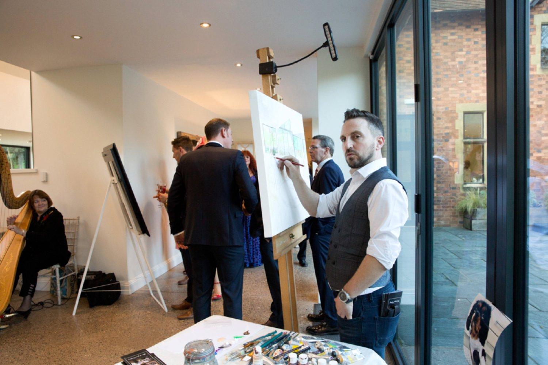 wedding artist painting