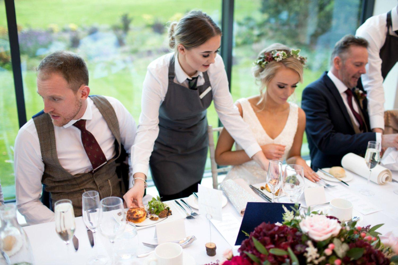 serving wedding starters