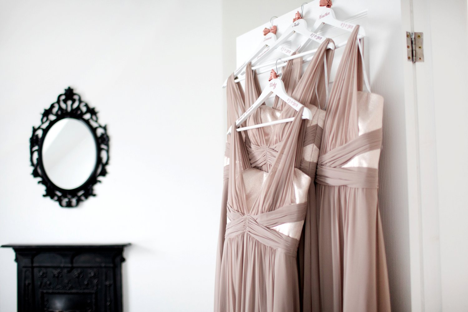 beautiful pink bridesmaids dresses