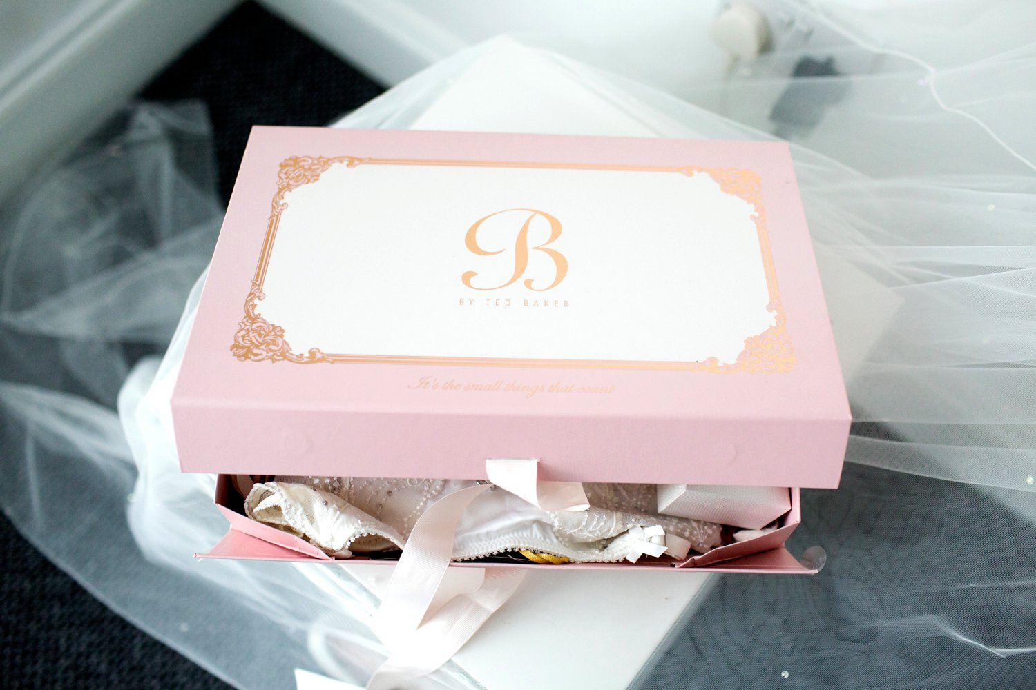 ted baker box with brides underwear