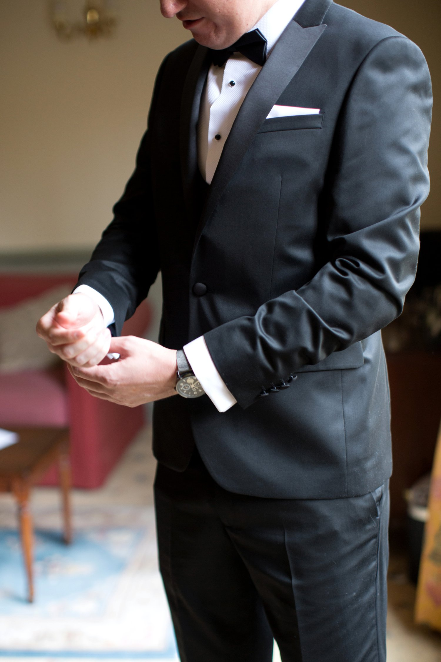 groom in dinner suit