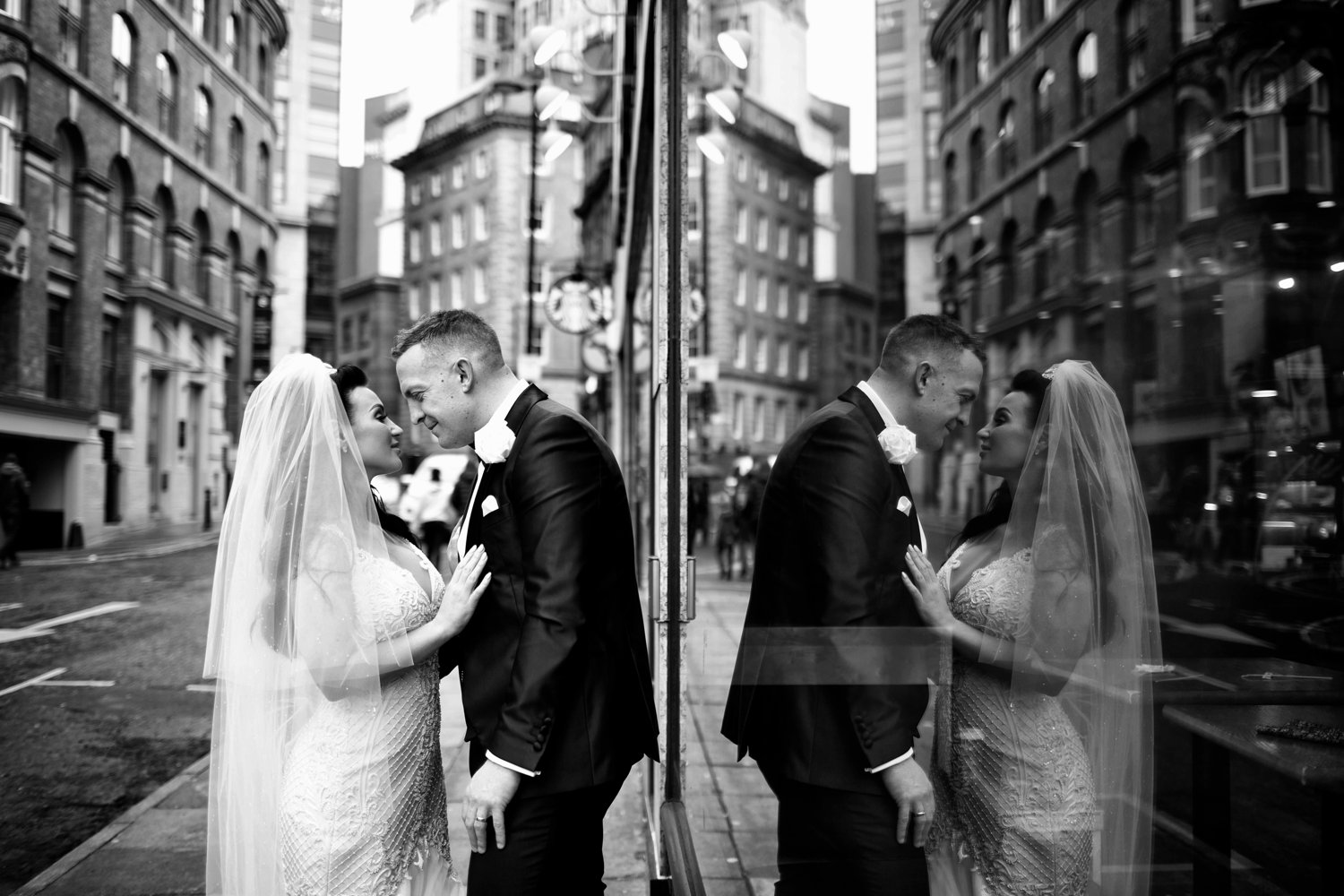 bride and groom manchester